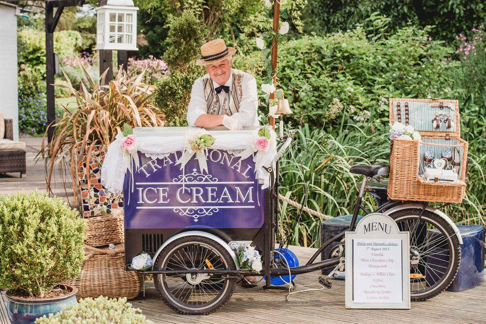 Ice Cream Dreams. Ice cream bicycles for hire.